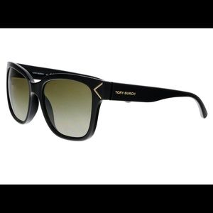 New Tory Burch sunglasses. Black frame, brown lens